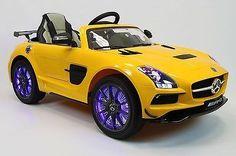 12V Battery Power Wheels R/C Mercedes SLS AMG Ride On Car Toy Boys And Girls