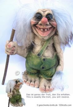 odd large Troll with stick, original Ny Form Troll Norway original Norwegian NyForm Troll