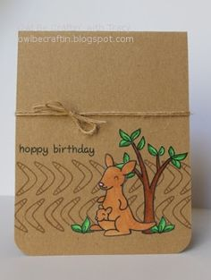 Lawn Fawn - Critters Down Under _ Owl Be Craftin: Hoppy Birthday with Lawn Fawn