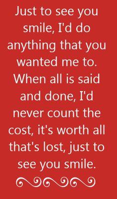 Tim McGraw - Just To See You Smile - song lyrics, song quotes, songs, music lyrics, music quotes,