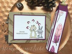 Stampin Up - Weihnachten - Christmas - Karte - Card - Stempelset We must celebrate - Stempelset Zur Feder gegriffen - Himbeerrot -Verpackung♥ StempelnmitLiebe
