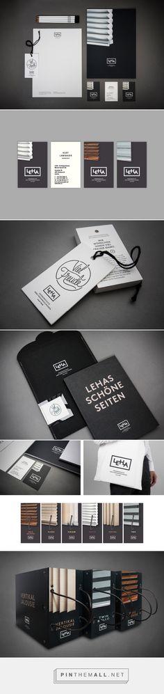 Window Treatments #branding Design Serifs & Sans curated by Packaging Diva PD. I've never seen window treatment #packaging that looks like this created via http://serifsandsans.com/branding/window-treatments-branding-austrias-market-leader/