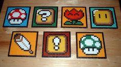 Perler Bead Video Game Coasters