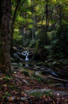 Roaring Forks River Waterfall, Gatlinburg, Tennessee; photo by .Kip Stahl