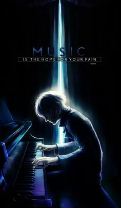 Musik er hjemsted for din smerte Sad Anime Quotes, Dark Quotes, Anime Music, Dark Anime, How I Feel, Music Quotes, In My Feelings, Music Is Life, True Quotes