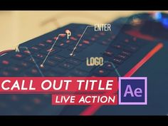 AFTER EFFECTS TUTORIAL :Live Action Call out Title in after effects - YouTube