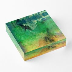 'Forest Mountains' Acrylic Block by Faye Anastasopoulou Decorative Throw Pillows, Decorative Items, Home Office Accessories, Theme Pictures, Forest Mountain, Fancy Houses, Framed Prints, Art Prints, Art Boards