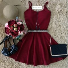 There is 0 tip to buy dress, burgundy, maroon/burgundy, red dress. Help by posting a tip if you know where to get one of these clothes. Hoco Dresses, Pretty Dresses, Homecoming Dresses, Beautiful Dresses, Dress Outfits, Casual Dresses, Cool Outfits, Dress Up, Prom