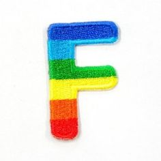 F Character Letter Alphabet Rainbow Appliques Hat Cap Polo Backpack Clothing Jacket Shirt DIY Embroidered Iron On / Sew On Patch    Price: $7.99    . Free Shipping Check Price >> http://www.amazon.com/Character-Alphabet-Appliques-Backpack-Embroidered/dp/B00B6L6TZW