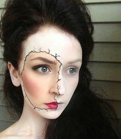 Maquillage discret et original pour Halloween