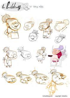Character designs, Le Building  © Rémi Zaarour — character concepts Character Poses, Kid Character, Character Concept, Character Design Animation, Character Design References, People Illustration, Character Illustration, Croquis Drawing, Son Chat