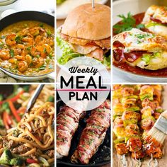 Weekly Meal Plan #64! A meal plan to help you keep things tasty each week, including shrimp etouffee, fried tomato BLT sliders, pizza stuffed chicken, and more! | HomemadeHooplah.com