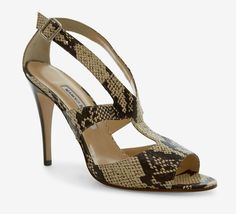 Manolo Blahnik Brown And Taupe Sandal: Matches my MK purse,,,,:)
