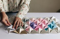 DIY origami wall display Photography by Brighton and London photographer Emma Gutteridge: