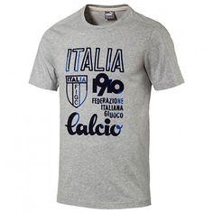 Puma Italy Azzurri Calcio Tee - Light Grey Heather