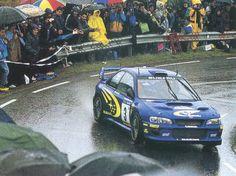 Richard Burns' Subaru in glorious rally weather