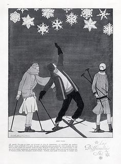 Jean Patou 1925 Winter Sports Fashion, Skiing, Lee Creelmann Erickson