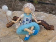 Needle felted doll waldorf inspired