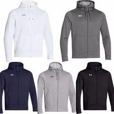 UNDER ARMOUR Sale UA Men NWT Fleece Full Zip Hoodie Sweatshirt L Grey #Underarmour #Hoodie
