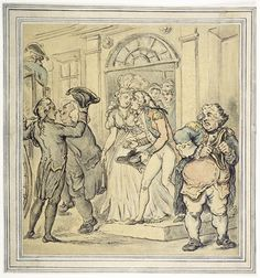 Leaving after a party: c 1800 (Thos Rowlandson) Museum of London