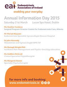 Endometriosis Information Day 2015 - more info on www.endometriosis.ie