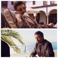 "Howard and Tony Stark, same robe (Iron Man 2 and Agent Carter OS)   ""I've been called many things, Pepper. Nostalgic is not one of them."""