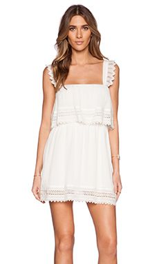 LIV Perry Tiered Dress in Ivory