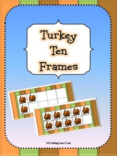 This is a set of turkey-themed ten frames. Great to use for math centers around Thanksgiving!  Thanks for visiting my store! :)  Turkey Ten Frames by TiTi's Teaching Tools is licensed under a Creative Commons Attribution-NonCommercial-NoDerivs 3.0 Unported License.
