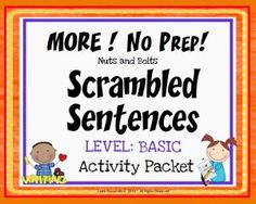 """Scrambled Paragraphs~ This NO PREP activity packet contains three MORE Scrambled Paragraphs. Each paragraph is written at a BASIC, beginner level using easy sequencing clues such as """"first,"""" """"second,"""" and """"third."""" There are nine (9) ready-to-use printables. Just copy and go!"""