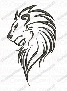 Lion tattoo drawings in pencil · lion outline tribal embroidery design in and sizes lion lion Outline Drawings, Animal Drawings, Tattoo Drawings, Leo Tattoo Designs, Henna Designs, Leo Tattoos, Body Art Tattoos, Tatoos, Lion Head Tattoos