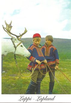 My great grandmother on my mothers side was a laplander who lived to 101 years old.Traditional costumes Finland Lapland 3 by We Are The World, People Of The World, Folk Costume, Costumes, Lappland, World Cultures, Traditional Outfits, Folk Art, Scandinavian