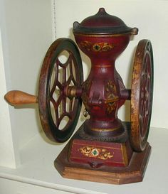 antique cast iron coffee mill