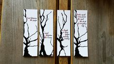 Tree Bookmarks, Forest Bookmarks, Paper Bookmarks, Quote Bookmarks, Handmade Bookmarks, Reading Gift, Book Gift, Lost between the pages door Keymarks op Etsy