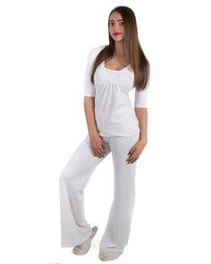 pijama de lactancia crema www.semillazul.com