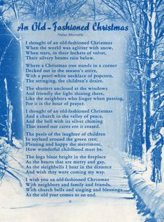 Learn about the origin and history of 15 Festive Christmas Poems, or browse through a wide array of 15 Festive Christmas Poems-themed crafts, decorations, recipes and more! Christmas Poems, Christmas Past, Blue Christmas, Retro Christmas, A Christmas Story, Country Christmas, Christmas Traditions, Winter Christmas, Christmas Readings