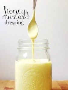 This recipe for homemade honey mustard dressing is so, so easy: it uses 3 ingredients and takes about 1 minute to stir together.