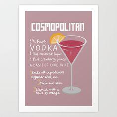 Cosmopolitan Art Print by hellobirdie - $17.00