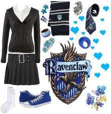 Ravenclaw uniform.