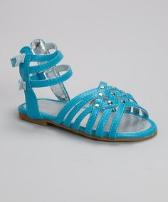 Loving this Turquoise Gladiator Sandal on #zulily! #zulilyfinds