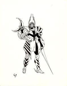 Este guerreo lo saque de un manga creo que es Icer-One