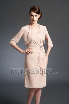 Fall colors available. Sheath/Column Straps Chiffon Mother of the Bride Dresses - IZIDRESSES.COM