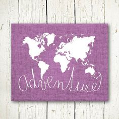 world map print purple adventure sign printable world map digital download purple wall decor jpg pdf adventure poster world map large sizes