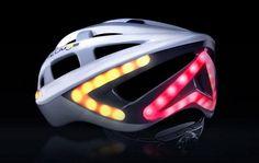Lumos helmet design with integrated LED brake light and turn signals