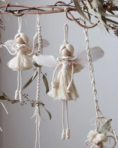 15 unique angel ornaments for kids that you'll love to take a look at – Artofit Upgrade your outside art with this hanging clay star DIY wall decor. Macrame Design, Macrame Art, Macrame Projects, Diy Projects, Christmas Angels, Christmas Crafts, Christmas Decorations, Christmas Ornaments, Christmas Star