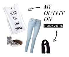 """""""My Style"""" by maggie2608 ❤ liked on Polyvore featuring Frame Denim, H&M, Converse and Blue Les Copains"""