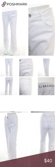 J BRAND WHITE COTTON MID RISE BAILEY SZ 30 J BRAND WHITE COTTON 5 POCKET MID RISE BAILEY FLARE LEG JEANS SZ 30.                 Belt Loops: Yes Leg Type: Flare Closure: Zipper Print: Solid Embellishments: Mid Rise Pockets: 3 Front, 2 Back Style #: 119C036 Cut #: 7336 Size: 30 Color: White Fabric: 94% Cotton, 5% Polyester, 1% Spandex PRE-OWNED: Very Good Condition Light wear on fabric J Brand Jeans Flare & Wide Leg