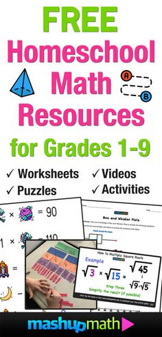 Free Homeschool Math Resources for COVID-19 — Mashup Math