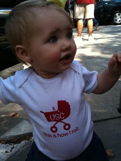 this is how I roll USC onesie
