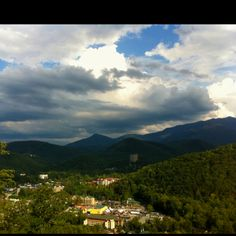 Gatlinburg, TN. View from the cabin I am staying at.