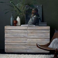 "WEST ELM - Stria 6-Drawer Dresser - Cerused White - 56""W x 19.75""D x 33.75""H - $1,299"